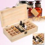 New 25 Grids Wooden Parts Storage Box