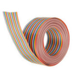 New 5M 1.27mm Pitch Ribbon Cable 40P Flat Color Rainbow Ribbon Cable Wire Rainbow Cable