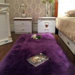 New 150x60cm Faux Wool Plush Rug Soft Shaggy Carpet Home Floor Area Mat Decoration