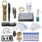 New 30 in 1 SOS Emergency Camping Survival First Aid Kit Outdoor Gear Tactical Tool Box