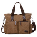 New Men Canvas Outdoor Casual Traveling Large Capacity Bag