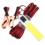 New DC12V 9.6W COB LED Chip Strip Magnet Light Source 900LM Camping Lamp with 5M Wire & Switch