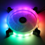 New 12cm 16million Color RGB LED Quiet Computer Case PC Cooling Fan +Remote Control