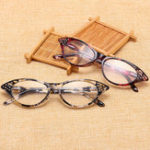 New Resin Hyperopia Cat Eye Reading Glasses Fashion Full Frame