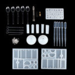 New 68Pcs/set DIY Craft Tools Kit Silicone Crystal Mold Making Jewelry Pendant Resin Casting