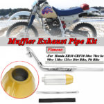 New For Honda XR50 CRF50 50cc 70cc 90cc 110cc 125cc Pit Bike Yellow Exhaust Muffler Pipe