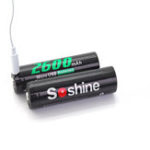 New 4 Pcs 3.7V 2600mAh 18650 Lithium Battery USB Rechargeable Flashlight Batteries With Protected Box
