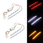 New 4Pcs Car Sequential Flow LED Light Strip Turn Signal DRL Tail Reverse Brake Lamp Switchback Tailligh