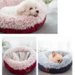 New Cozy Solid Fleece Round Pet Bed Anit-skip Pet Dog Basket Kennel Cat Dog Bed For Medium And Samll Dogs Padding Mat Cat Basket