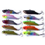 New ZANLURE 10pcs/set 5.5cm 10g VIB Crankbait Lifelike Fishing Lure Slow Sinking Hard Fish Wobbler Baits