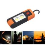 New 3W Portable Magnetic COB LED Work Light Battery Powered Camping Tent Emergency Lantern With Hook