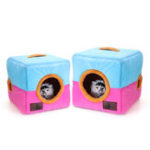 New Soft Cosy Igloo Cave Warm Pet Bed Dog / Puppy / Cat / Kitten Cube House Pet Bed