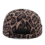 New Women Cotton Leopard Print French Brimless Hats