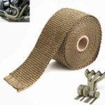New 5M Exhaust Heat Wrap Manifold Downpipe High Temp Insulation Bandage Tape Roll