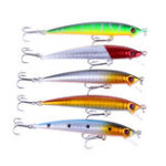 New ZANLURE 5pcs/set 8.5cm 6g Minnow Fishing Lure Wobbler Isca Artificial 3D Eye Swim Hard Bait