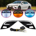 New LED Daytime Running Lights DRL Turn Signal Lamps Three Colors Pair for Toyota Camry SE XSE 2018