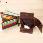 New Men Genuine Leather Hasp Minimal Wallet Vintage Coin Bag