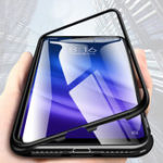 New Bakeey 360° Magnetic Adsorption Metal Tempered Glass Flip Protective Case for Xiaomi Mi 8 Lite