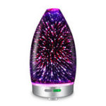 New 120ML 7 Colors Light 3D Glass Ultrasonic Cool Mist Air Humidifier Oil Aroma Essential Diffuser