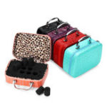New 22 Slot Essential Oil Storage Box Leather Case Carrying Container Aromatherapy Portable Bag