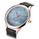New REBIRTH RE086 Starry Sky Rose Gold Case Women Watches