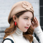 New Vintage Women Wool French Painter Beret Hat Outdoor