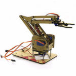 New DIY 4DOF Arduino Acrylic RC Robot Arm Gripper Educational Kit With MG90S Servos