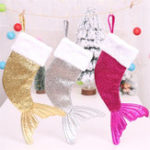 New Christmas Sequin Hanging Socks Gift Bag Christmas Tree Decoration Party Ornaments Xmas