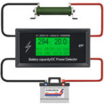 New 100A 300V DC Energy Meter Energy Monitoring 8 in 1 Measurement Voltage + Current + Power + Battery Capacity + Impedance + Temperature + Energy + Time + External Waterproof Temperature Probe