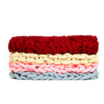 New 60 x 60cm Warm Winter Luxury Handmade Crocheted Bed Knitted Sofa Cover Blankets