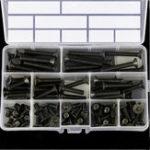 New Suleve™ M6CH1 80Pcs M6 Carbon Steel Screw Hex Socket Flat Head 10.9 Grade 10-45mm Bolt Assortment