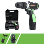 New 12V Li-ion Battery Rechargable Cordless Electric Screwdriver Single/Double Speed LED Light Electric