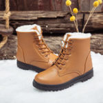 New Women Casual Comfy Keep Warm Fur Lining Snow Boots