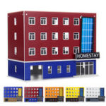 New  1/150 Scale Outland Building Model N Gauge Scene Modern School Dormitory