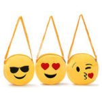 New Cute Women Girl Mini Emoji Coin Purse Case Plush Bag Shoulder Bag Messenger Bag