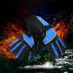 New 2600mAh 7.4V Electric Rechargeable Battery Heated Motorcycle Gloves Waterproof Winter Warm Hand