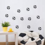 New Honana 12PCS/Set Sports Wall Sticker Boys Bedroom  Art Personalized Football Soccer Ball Wall Sticker For Kids Rooms Decor
