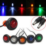 New 12/24V 3/4inch Boat Pickup Truck Trailer LED Clearance Side Marker Indicator Light Lamp