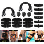 New KALOAD 14pcs Muscle Training Gear Hip Buttocks Lifting ABS Fitness Exercise Hip Trainer Stimulator