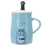 New Milk Coffee Mug With Cover and Candy Color Mug Handle Cup Kitchen Tool Gift