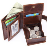 New Men Genuine Leather Vintage 10 Card Slots Coin Bag Wallet