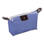 New IPRee® Striped Dumpling Women Cosmetic Bag Folding Travel Waterproof Makeup Wash Bag Storage Pouch