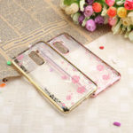 New Bakeey Diamond Plating Clear Cover Soft TPU Flower Protective Case For Xiaomi Pocophone F1
