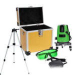 New 3D Green Laser Level 5 Line Self Leveling Outdoor 360° Rotary Cross Measure Tool