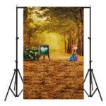 New 3x5FT Golden Woods Autumn Photography Backdrop Studio Prop Background