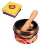 New Copper Tibetan Singing Bowl Set For Meditation/Prayer/Yoga/ Mindfulness