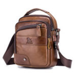 New Men Genuine Leather Bag Multi-layer Cowhide Crossbody Bag