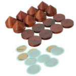 New 8Pcs Spikes Pads Rosewood Speaker IsolationFeet Stand 23mm / 0.91 Inches Wooden