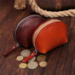 New Retro Genuine Leather Vegetable Tanned Shell Coin Bag