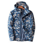 New Mens Camo Printing Windproof Hooded Outdoor Sports Jacket